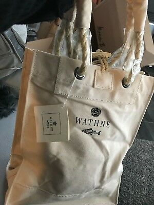 WATHNE NATURAL CREAM LARGE STURDY CANVAS SHOPPER TOTE **NEW WITH - Natural Canvas