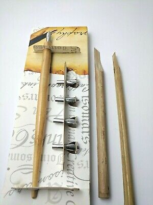Bamboo Calligraphy Set (CALLIGRAPHY FOUNTAIN PEN SET WITH 5 ITALIC NIBS,2 BAMBOO REEDS  AND ISOMARS INK )