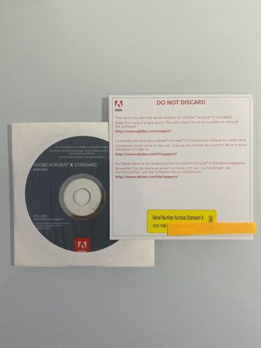 Adobe Acrobat X Standard PC edition *Not a Subscription*
