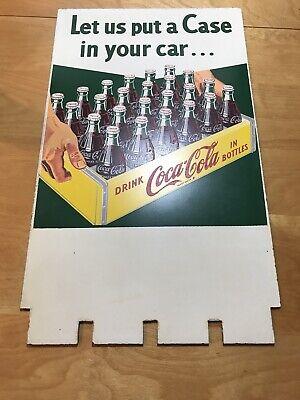 Rare Vintage Coca Cola Masonite Display Sign Case With Bottles
