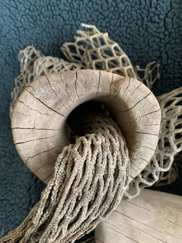 Antique Wood Net Floats
