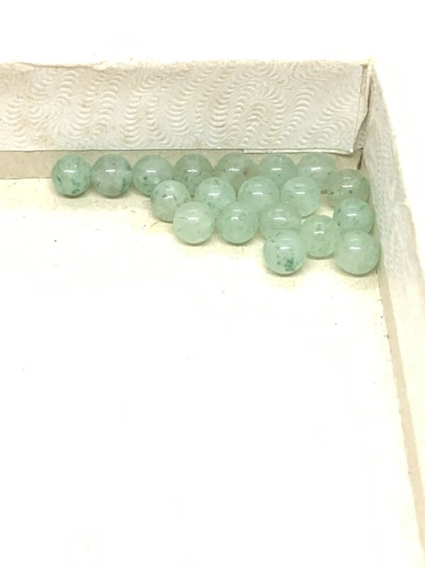 Lot of 6mm Two Hole Jade Beads