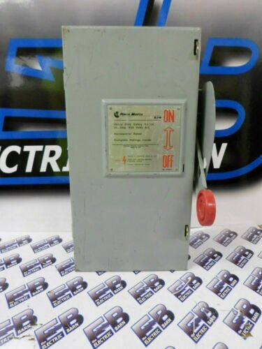 CUTLER HAMMER H361NFK, 30 AMP, 600 VOLT, 3 PHASE 3W, DISCONNECT
