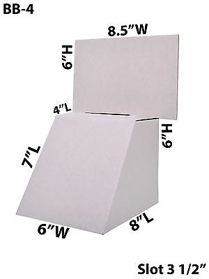 Cardboard Large Suggestion Donation Ballot Box Counter Top 8 12 X 6 Lot Of 25