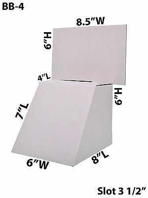 Countertop Cardboard Large Suggestion Donation Ballot Box 8 12 X 6 Lot Of 100