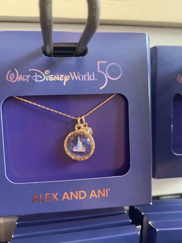 Walt Disney World 50th Anniversary Cinderella Castle Necklace by Alex and Ani