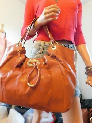 MICHAEL KORS   McGraw Shoulder Handbag Satchel Burnt Org. Leather  EUC  $268.00
