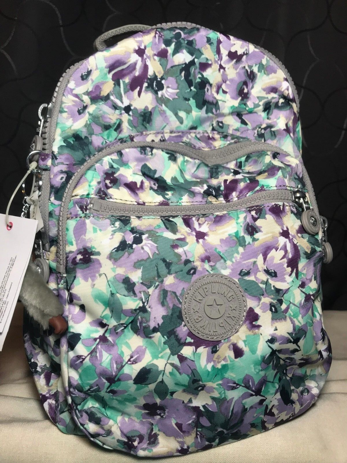 Kipling Seoul GO S Spanish Bloom Floral Small/Medium Backpac