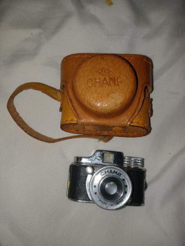 Vintage Spy Camera Champ Miniature with Leather Case