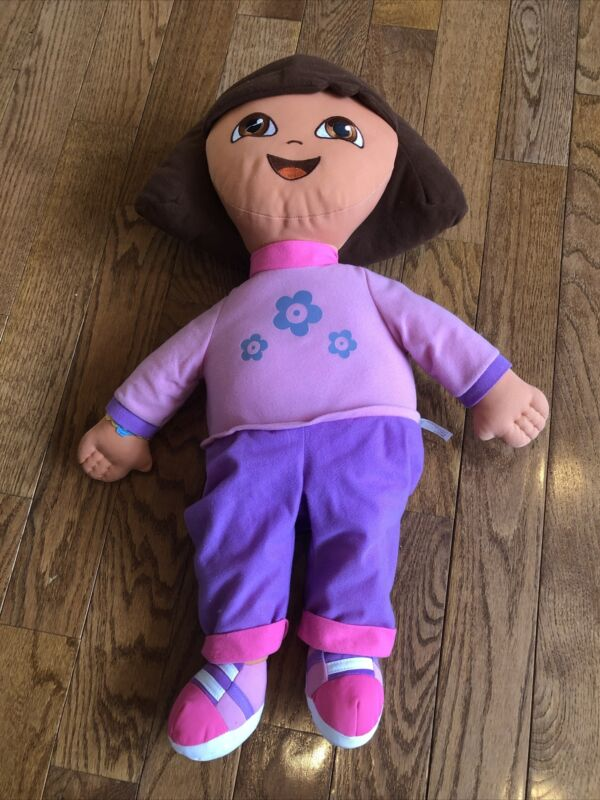 """Dora The Explorer 26"""" Plush By Fisher Price Very Good Condition"""