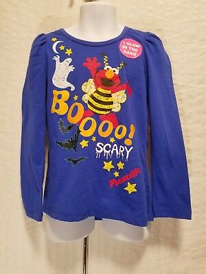 Sesame Street Boo Halloween Girls 12M 3T 5T Long Sleeve T Shirt Glow In the Dark](M Street Halloween)