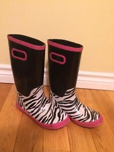 Girl's Lined Rain Boots