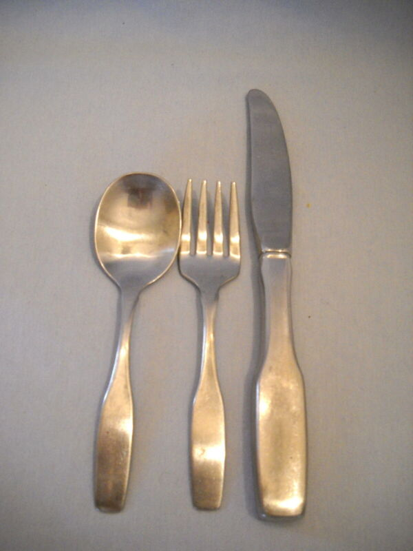 3 pc Matching Set Baby/Toddler Flatware ~Knife/Fook/Spoon ~Community Stainless