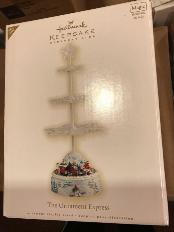Hallmark 2009 Keepsake Ornament Club THE ORNAMENT EXPRESS Display Stand Train