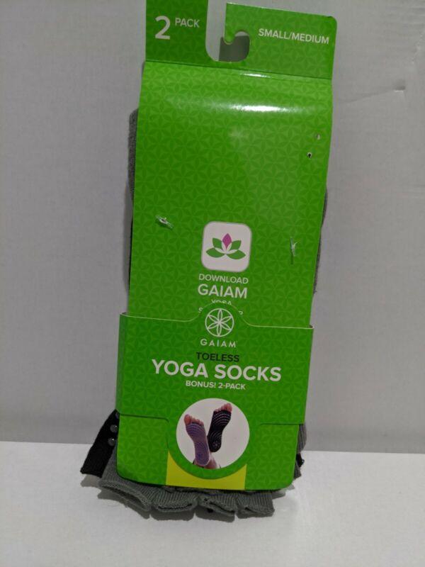Gaiam Yoga Open Toe Socks With Grip NWT 2 pack