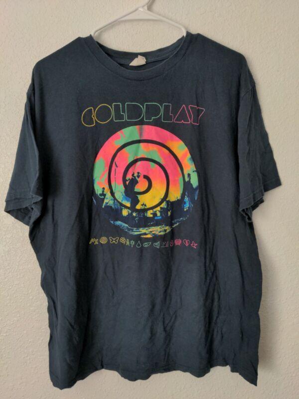 Coldplay Mylo Xyloto 2012 Tour T Shirt Blue XL