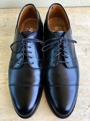 Alden 971 Straight Tip Blucher Black Calfskin 9 D Derby Dress Casual Oxford VGUC