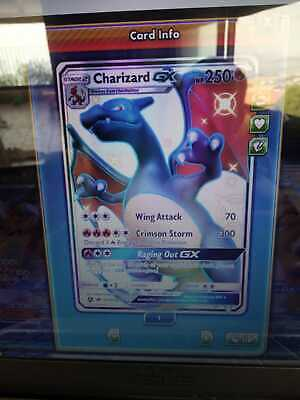 pokemon card PTCGO charizard gx hidden fates rare virtual card 5 min delivery