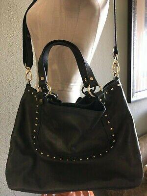A.Bellucci Italy Italian Leather Olive Green Satchel Shoulder Crossbody Bag