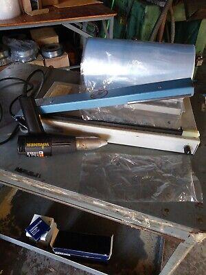 Aps Model Cs-16 Shrink Wrapper Machine With Wagner Heat Gun.