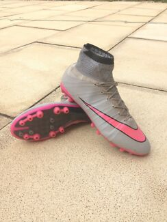 Nike Mercurial Superfly Grey and Pink