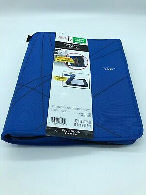 Five Star Zipper Binder 1.5 Inch 300 Sheet Capacity New In Packaging Blue