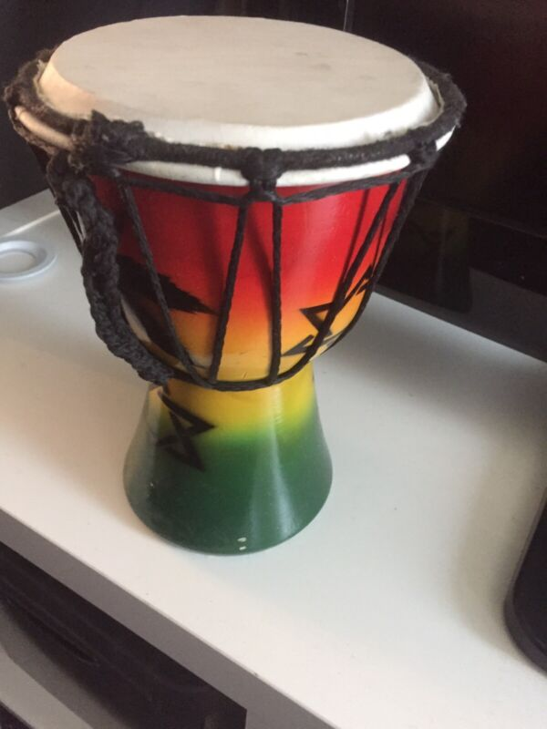 Painted hand Crafted 6 Inch Drum