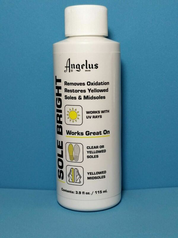 Angelus Sole Bright, Icy Sole Restorer Sauce, Removes Yellowing! NEW PACKAGE