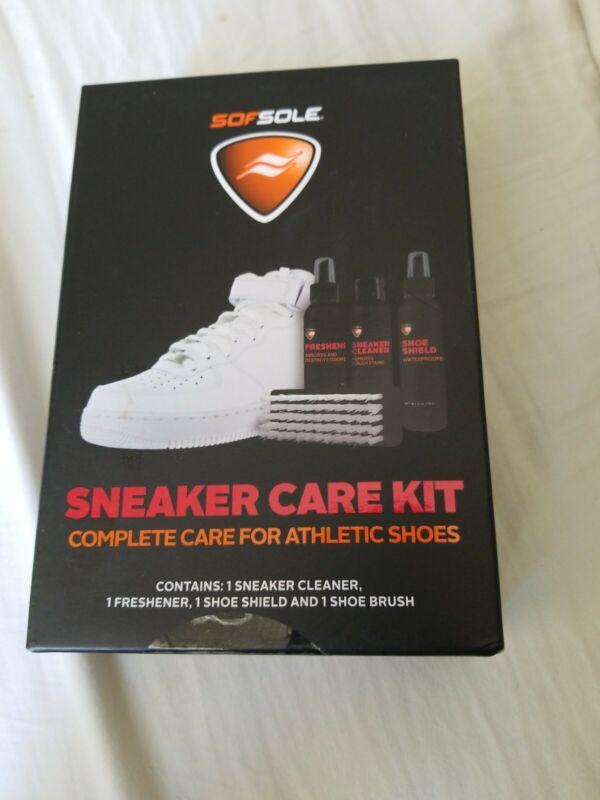 Sof Sole Athletic Sneaker Care Kit Shoe Cleaner Freshener Shield Brush 82448