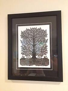 Framed Hand Cut Paper Tree - Price Reduced Edgewater Joondalup Area Preview