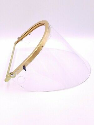 Bullard 110g Bracket Hard Hat Face Shield Gold Tone Flip Up Flat Brim Work Nos