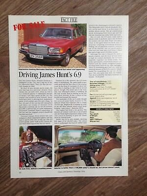 MERCEDES-BENZ 450 SEL 6.9 1977 James Hunt's Car - Classic Buying Guide Article