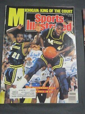 1989 MICHIGAN WOLVERINES BASKETBALL SPORTS ILLUSTRATED MAGAZINE