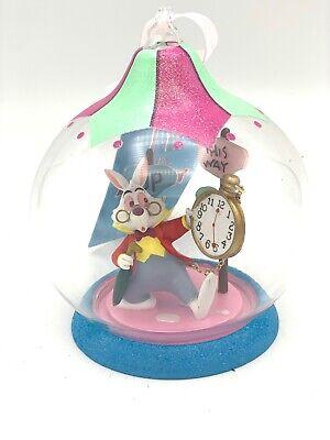 Decoración de Navidad bola de cristal conejo Alicia