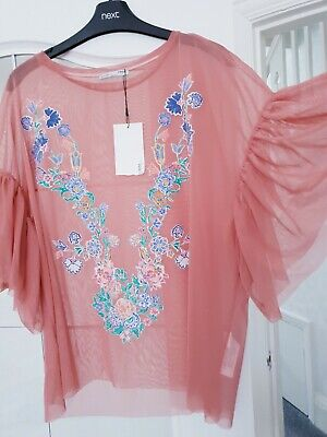 Zara Floral Embroidered Top.  Size M.  ❤ Brand New.