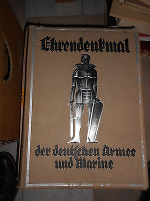 Ehrendenkmal der deutschen Armee und Marine - Riesen Prachtband 1. Weltkrieg