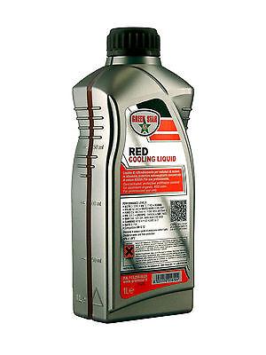 Green Star 1lt Liquido antigelo refrigerante Rosso raffreddamento radiatore auto