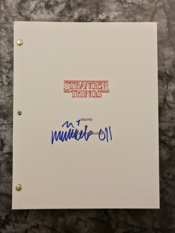 GFA Stranger Things Eleven * MILLIE BOBBY BROWN * Signed Full TV Script EJ2 COA