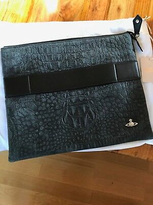 Vivienne Westwood Leather Man Bag Laptop Bag, brand new and boxed Genuine