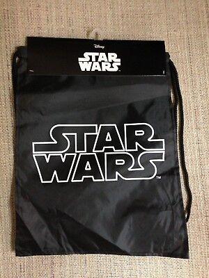 Disney Cinch Bag (Disney Star Wars Nylon Cinch Bag With Shoulder Straps - 8x13.5 -)