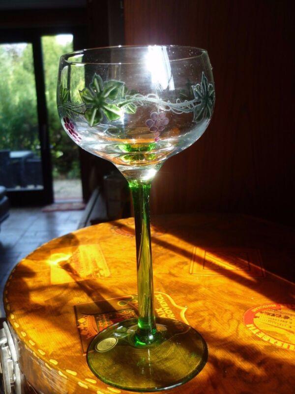 6 Exklusive Theresienthal Wodka Sherry Wein Gläser Vogel Radgravur Designer Glas