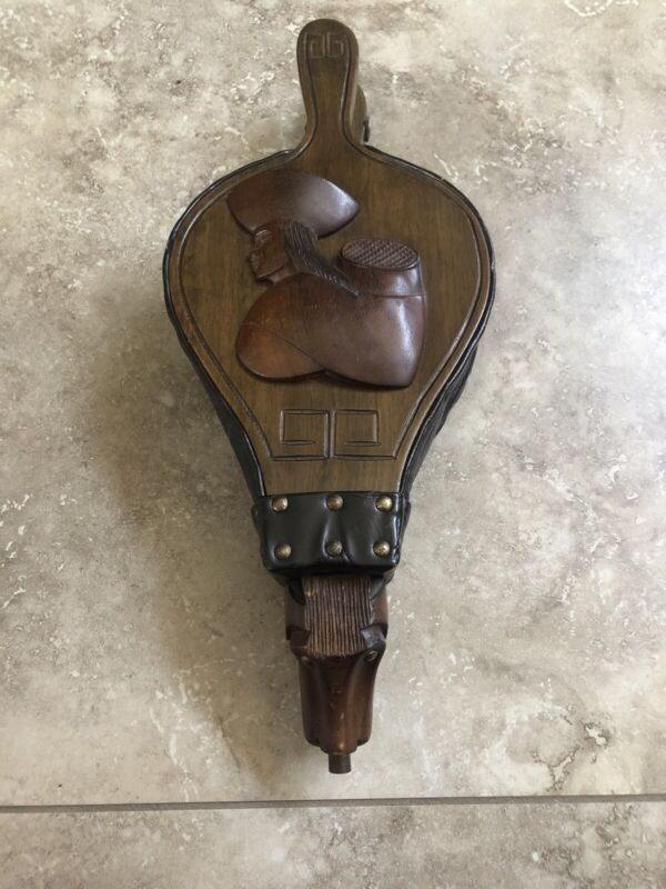 Vintage Leather Fireplace Bellows