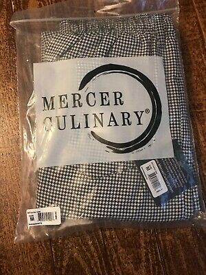 Mercer Millennia Apparel Unisex Chef Pants Houndstooth Medium New With Tags