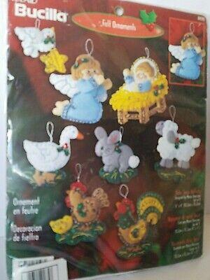 Bucilla Baby Jesus Nativity Felt Ornaments Kit 84598 Animals Angels