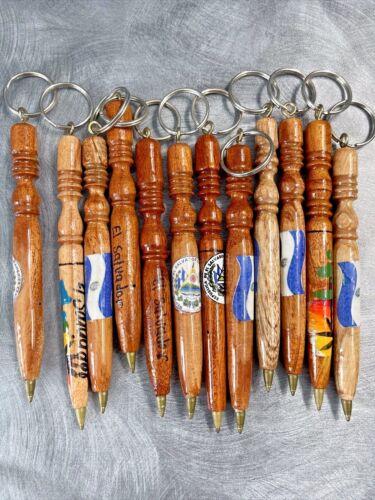 El Salvador 3  Lapiceros Artesanales Wooden Handcrafted Pen