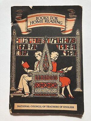 1931 Libros para el Hogar Lectura Folleto por National Consejo de Maestros