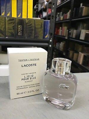 T EAU DE LACOSTE L12.12 POUR ELLE ELEGANT Perfume 3.0 oz edt