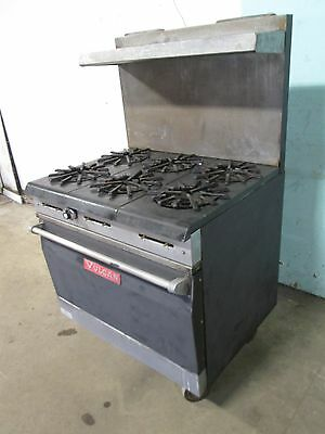 Vulcan 36l 77r Commercial H.d. Nsf Natural Gas 6 Burners Stove Woven