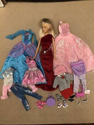Barbie With Extra Outfits And Accessories Bundle