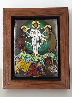 Old Greek Icon Of The Transfiguration Of Christ On Mount Tabor Enamel On Silver